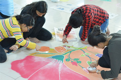 3-D Rangoli Making competition