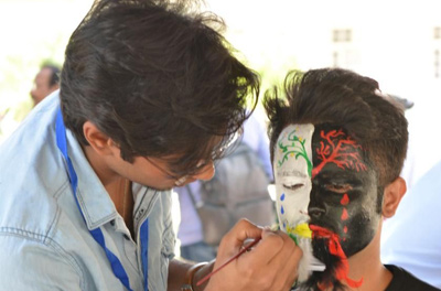 Face Painting competition at Faculty of Architecture LU