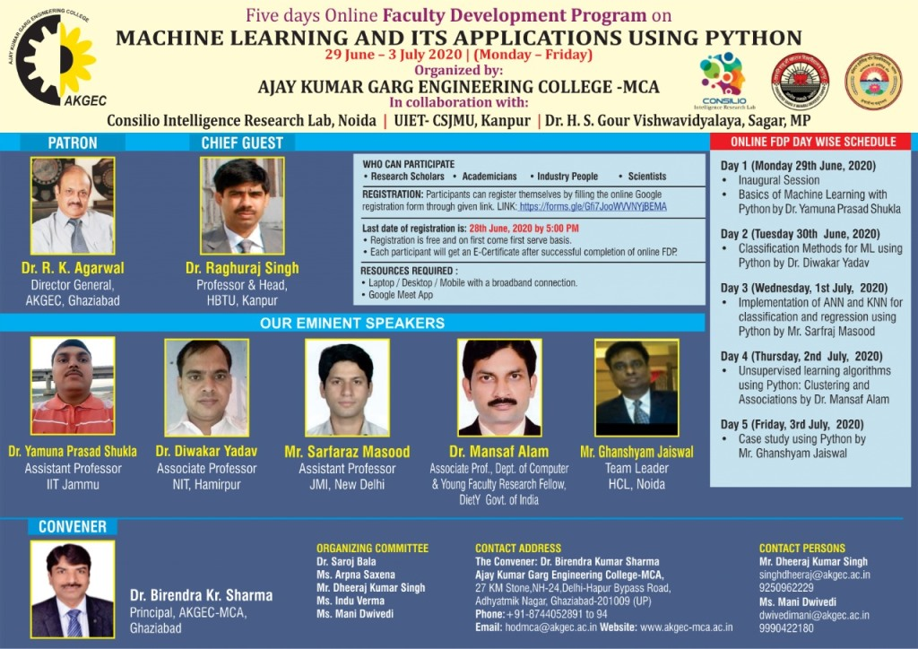Online FDP on Machine Learning and its Application